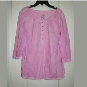 S S. Oliver Pink Sun Washed Top